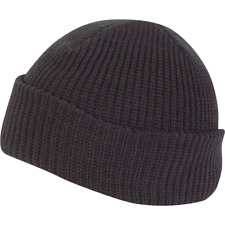 Knitted Hat Watch Cap Thermal Acrylic Winter Military Warm Beanie Green Black