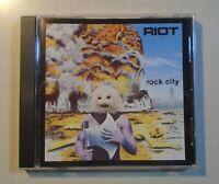 Riot Rock City CD Metal Blade Records 3984-15368-2 1977 indie metal classic