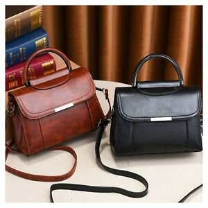 Retro Boutique Small Tote Shoulder Top Handle Woman Patent Synthetic Leather Bag
