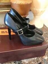 NIB Balmain Smooth Leather Square-Toe MaryJane Pump w/Hidden Platform  - 39