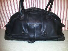 9cdfb6758f Jean Paul Gaultier Black Grained Leather Trench Shoulder Bag Tote