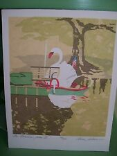 Am American Swan ll Serigraph Anne Silber Signed Numbered