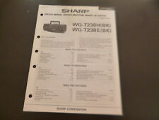 Original Service Manual Schaltplan  Sharp WQ-T238H