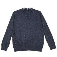 J. Crew Pullover Cotton Sweater Mens Size XL Blue Crew Neck Long Sleeve
