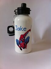 Spiderman water bottle personalised name boy/girl Ideal gift school/football