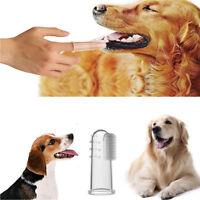 8Pcs Soft Finger Toothbrush Pet Dog Oral Dental Cleaning Teeth Care Brush Safe
