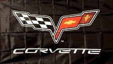 CHEVROLET CORVETTE C6 EMBLEM LOGO 3X5 BANNER FLAG garage shop wall decor