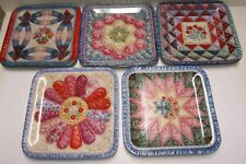 Mary Ann Lasher Cherished Traditions Quilt Plates Bradford Exchange 5 Pc