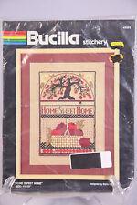 2 Bucilla Stitchery Kits Home Sweet Home 49963 and Welcome 49964