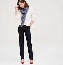 NWT Ann Taylor LOFT Modern Straight Leg Jeans pants Dark indigo 00 2P