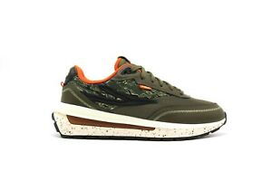 NEW MEN FILA RENNO CAMOUFLAGE GREEN RETRO EDITION RUNNING LACE UP SNEAKERS