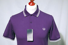 Men's Medium Fred Perry. Slim Fit. Purple with white twin tip.