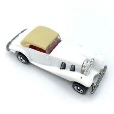 1982 White Hot Wheels 540k Mercedes 1:64 Diecast Car