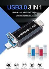 Pendrive 3 en 1 tipo C Usb 3.0 Wansenda  USB OTG Unidad Flash 32 64 128 256 gb