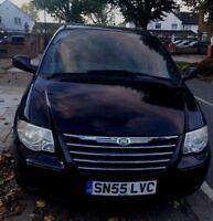 Chrysler grand voyager 2.8 ltd xs  stow n go 55 reg (2005) black