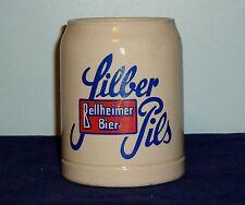 Stoneware Bellheimer Bier Silber Pils 0.5 Liter West German Beer Mug Stein