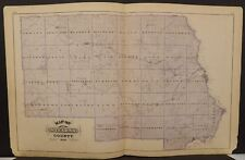 Minnesota Sterns County Map or Engravings *Special Purchase Dbl Pg/Sd1874 K15#41