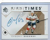 2018-19 SP Authentic Sign of the times autograph Evgenii Dadonov Florida Panther