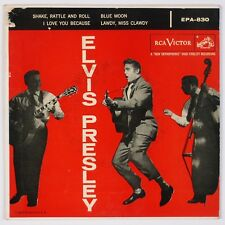 ELVIS PRESLEY: Shake Rattle and Roll RCA EPA-830 Orig EP 45 PS NM- Wax