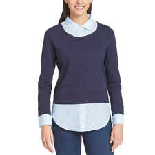 NEW! SALE! Tommy Hilfiger Women's/Ladies' 2-fer Blouse VARIETY SIZE & COLOR