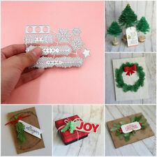 DIY Metal Christmas Tree Wreath Cutting Dies Stencil Scrapbook Paper Craft Gift