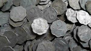 REPUBLIC INDIA - 2 PAISE - ALUMINIUM COINS - 50 PIECES LOT - MIXED YEARS COINS