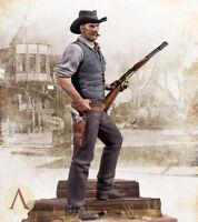 Unpainted USA West Cowboy Figure Gun Resin Statue GK Unassembled 1/24 Scale 3''H