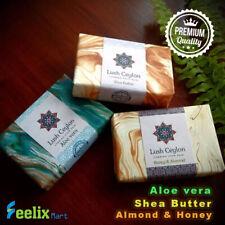 Lush Ceylon 100g Natural Ayurvedic Bathing Beauty Soap Almond Alovera Sheabutter