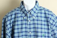 Brooks Brothers Men's blue and green plaid Non Iron long sleeve shirt XL EUC