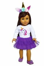 Purple Unicorn Themed Outfit 4 American Girl Dolls Clothes 18 Inch Dolls