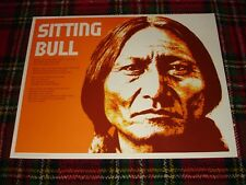 Vintage 1974 Sitting Bull Poster ~ Educational, Perfection Form Co, EX, Rare