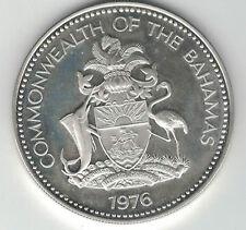 Superbe piece de 5 dollars des Bahamas argent 1976 42,12 GRS 23.000ex