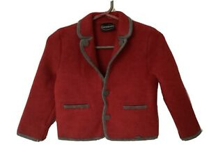 Giesswein Austrian Pure New Wool Childs Blazer Jacket Red, Preppy