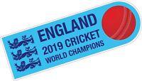 England World Cup Winners 2019 Cricket Team Car Sticker, Laptop, Bat FREE P&P