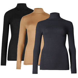 Marks & Spencer Womens Heatgen™ Thermal Top New Long Sleeve M&S Roll Polo Neck