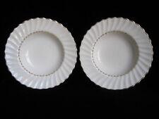 "Vintage Royal Doulton Fine Bone China ADRIAN Pair 8"" Rimmed Soup Bowls - white"