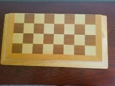 Wood Chess - Folding Chessboard Travel Game Set - Great Condition