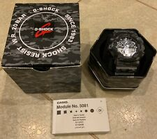 Casio G-Shock Protection Grey Camouflage GA-100CM-8A Module No. 5081 W.R. 20 BAR
