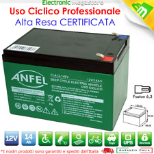 Batteria 12V 14AH GEL AL PIOMBO CICLICA DEEP CYCLE RICARICABILE 12AH 15AH A VITE