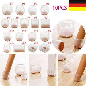 10x Silikon Fußkappen Stuhlbeinkappen Möbel Tischfuß Socken Stuhlbodenschoner