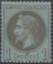 "FRANCE  STAMP TIMBRE N° 25 "" NAPOLEON  III 1c BRONZE 1870 "" NEUF xx TB  K259"