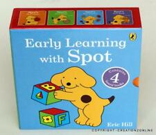 EARLY LEARNING WITH SPOT 4 BOARD  BOOKS BOXED SET COLOURS SHAPES NUMBERS WORDS