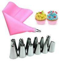14Pcs Cake Baking Decorating Kit Set Piping Tips Pastry Icing Bag Nozzles Tool