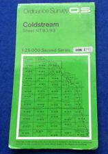 Ordnance Survey 1:25000 Second Series paper map Coldstream Sheet NT 83/93 1977