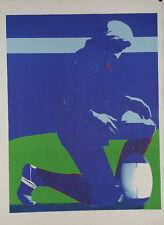 Frederic BRANDON - Estampe originale - Lithographie - Rugby