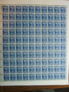 11 Cent POLK #816 MNH Sheet of 100 from Presidential Series View Pics
