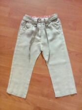 Filles La Redoute gris clair lin pantalon âge 2 ans H34cm