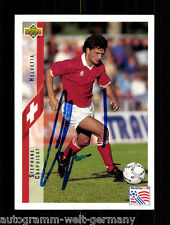 Stephane Chapuisat Schweiz Upper Deck WM 1994 Orig. Sign. +A48330