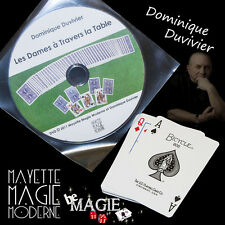 DUVIVIER - Les Dames à Travers la Table + DVD - Magie - Qualité Bicycle