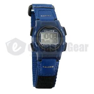 VibraLITE Mini 12 Vibrating Alarm Watch Blue, VM-VBL #23, Kids Small Reminder